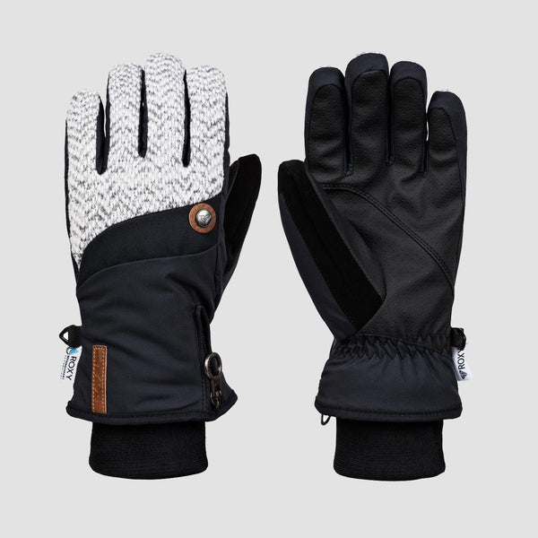 Roxy Nymeria Gloves Gloves True Black - Womens - Snowboard