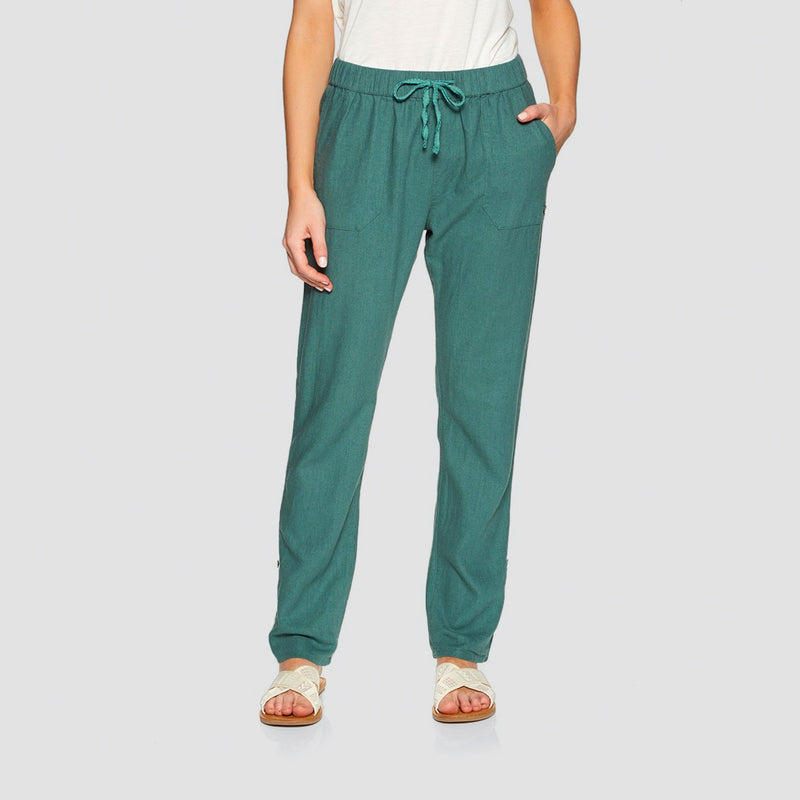 Roxy On The Seashore Elasticated Linen Trousers North Atlantic - Womens