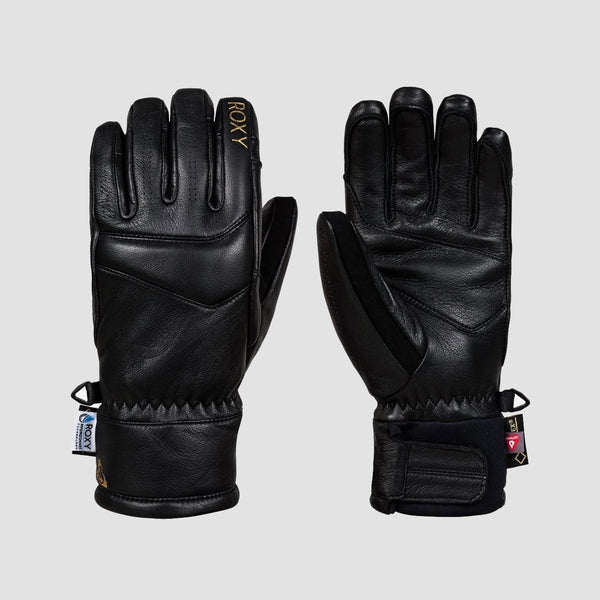 Roxy Premiere Gore-Tex Snow Gloves True Black - Womens - Snowboard