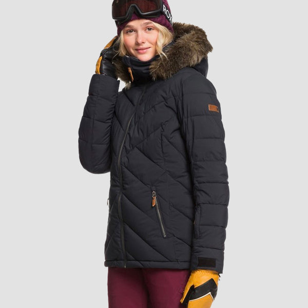 Roxy Quinn Snow Jacket True Black - Womens