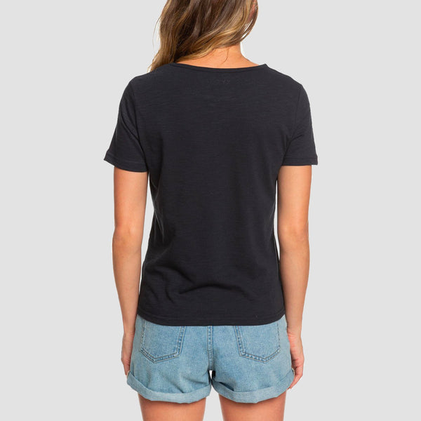 Roxy Red Sunset B Tee True Black - Womens