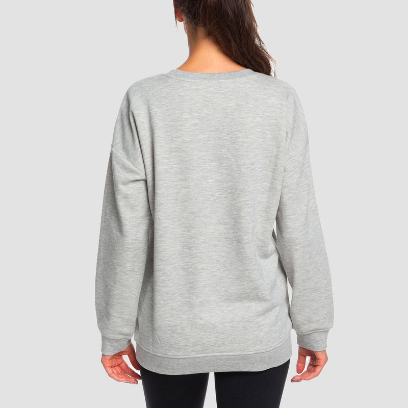 Roxy Rendez-Vous With You Crew Sweat Heritage Heather - Womens