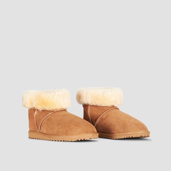 Roxy Renton Sheepskin Boots Chestnut Brown - Womens - Footwear