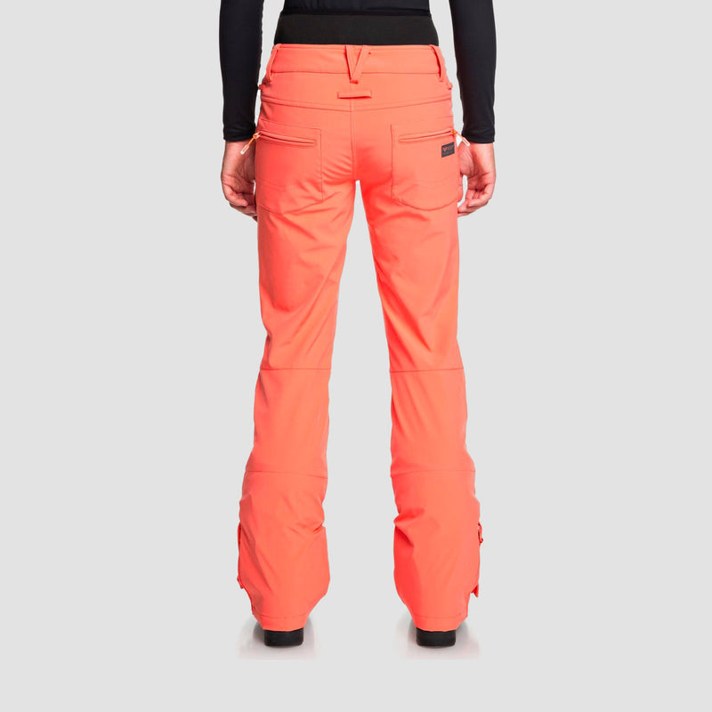 Roxy Rising High Waist Snow Pants Living Coral - Womens