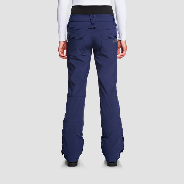 Roxy Rising High Waist Snow Pants Medieval Blue - Womens
