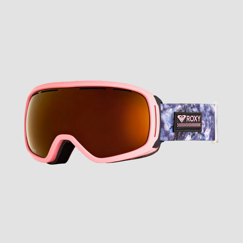Roxy Rockferry Snow Goggles Medieval Blue Sparkles - Womens