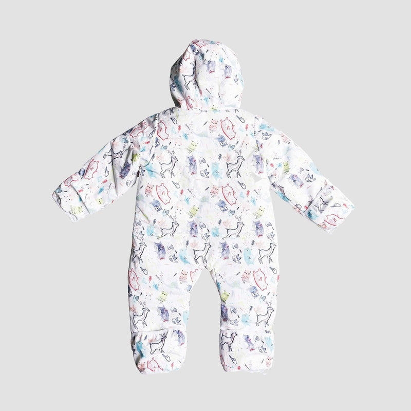 Roxy Rose Jumpsuit Bright White/Animals Party - Kids - Snowboard