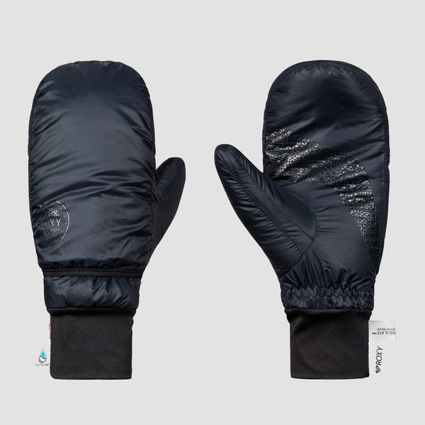 Roxy Rx Packable Snow Mittens True Black - Womens - Snowboard