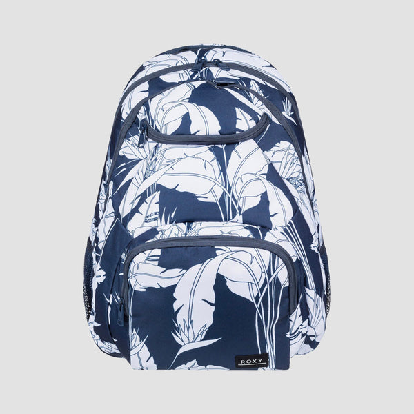 Roxy Shadow Swell 24L Backpack Mood Indigo Flying Flowers S - Womens