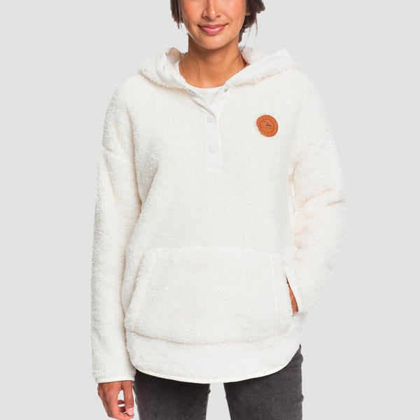 Roxy Sky Of Stars Pullover Hood Snow White - Womens - Clothing