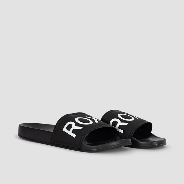 Roxy Slippy Sliders Black Fg - Womens