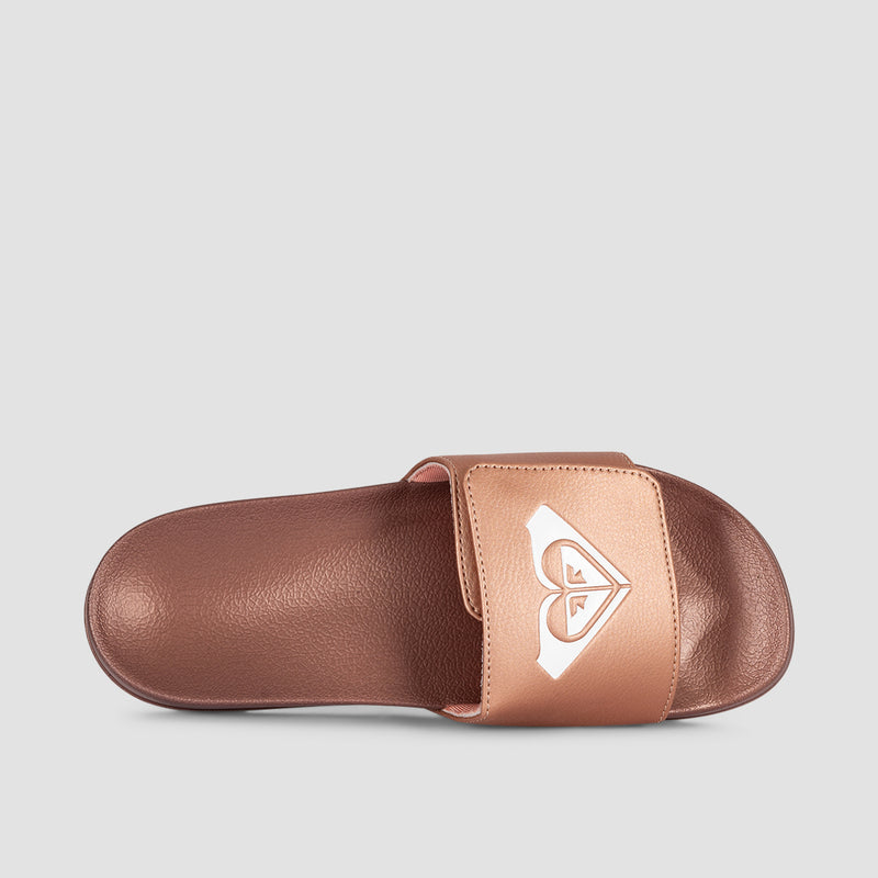Roxy Slippy Sliders Rose Gold - Womens