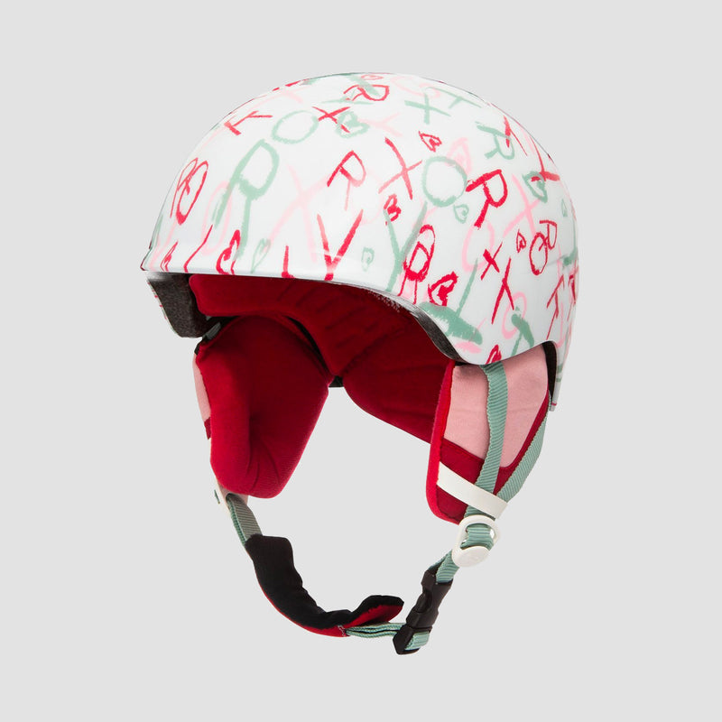 Roxy Slush Snow Helmet Bright White School Day - Girls