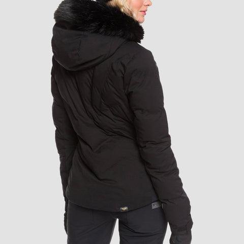 Roxy Snowstorm Plus Snow Jacket True Black - Womens - Snowboard