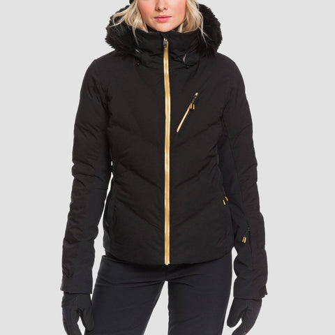 Roxy Snowstorm Plus Snow Jacket True Black - Womens