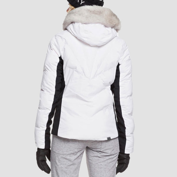 Roxy Snowstorm Snow Jacket Bright White - Womens - Snowboard