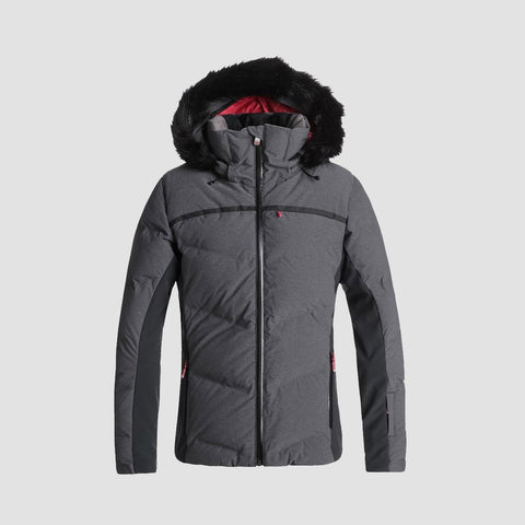Roxy Snowstorm Snow Jacket True Black - Womens