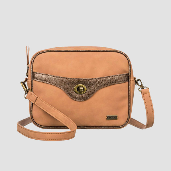 Roxy So Seventies 3L Shoulder Bag Chipmunk - Womens