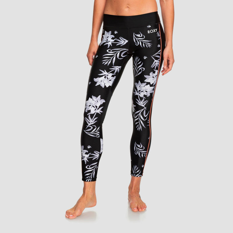 Roxy Spy Game Sports Leggings True Black Full Bicolys - Womens
