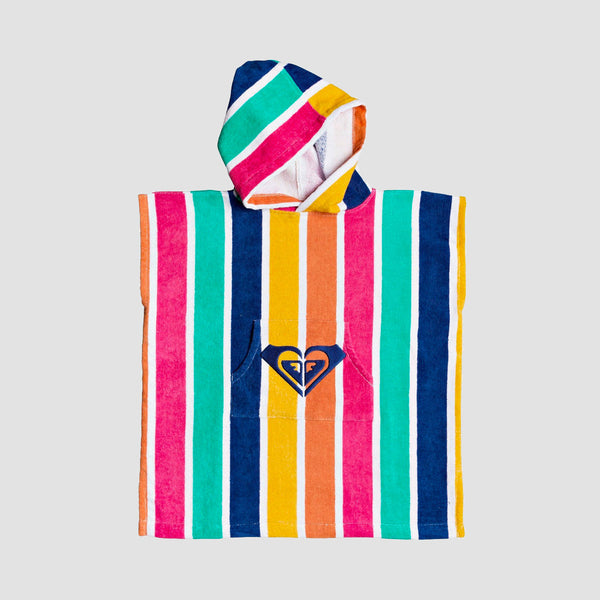 Roxy Stay Magical Girls Surf Poncho Monaco Blue Pong Stripes S - Kids