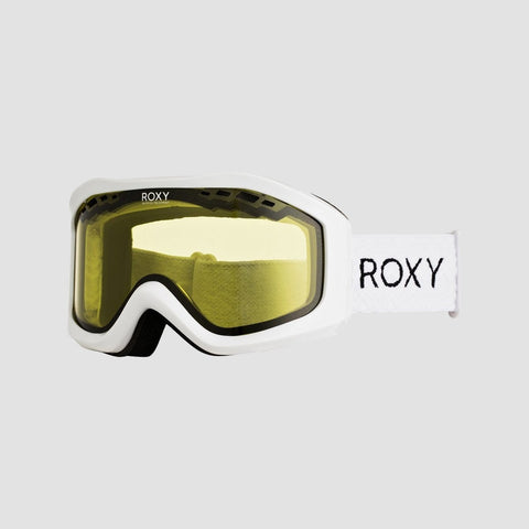 Roxy Sunset Bad Weather Snow Goggles Bright White - Womens