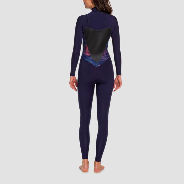 Roxy Syncro 5/4/3mm Chest Zip Wetsuit Blue Ribbon/Coral Flame - Womens