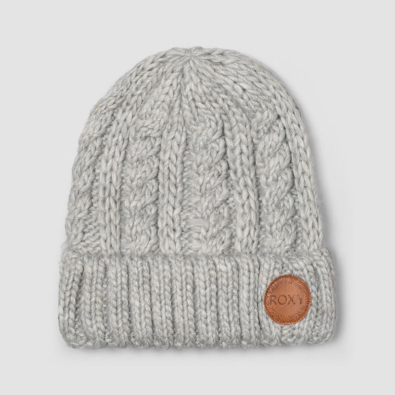 Roxy Tram Beanie Heather Grey - Womens