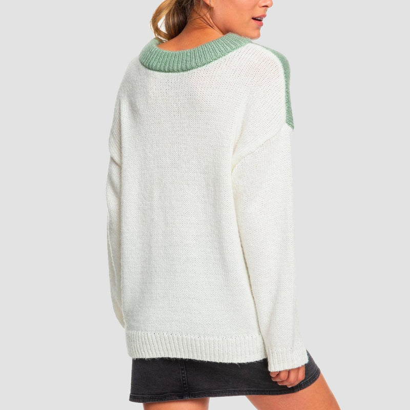 Roxy Trip For Two Jumper Snow White - Womens