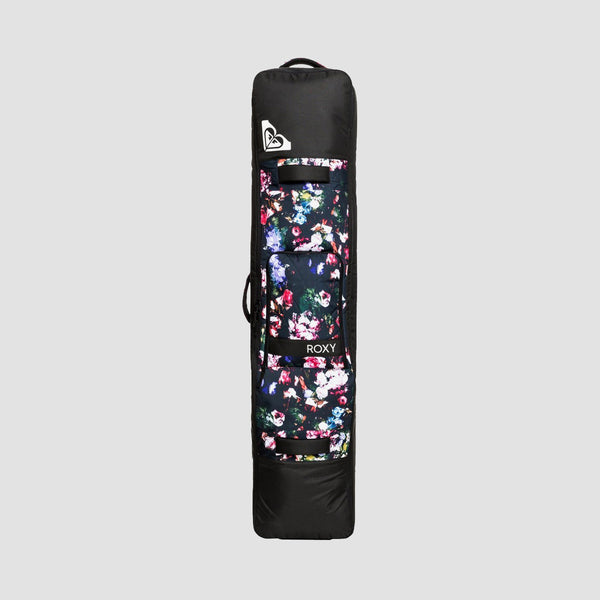 Roxy Vermont Wheeled 127L Snowboard Bag True Black Blooming Party - Womens