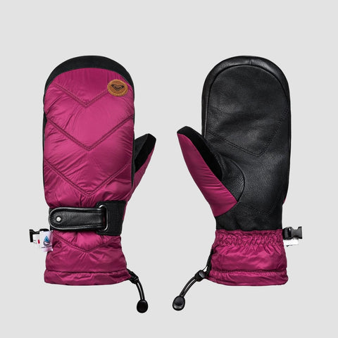 Roxy Victoria Snow Mittens Beet Red - Womens