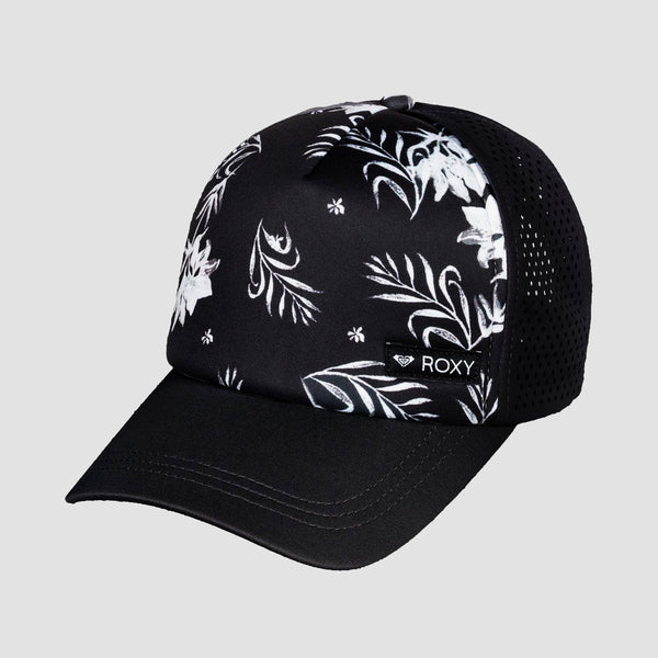Roxy Wave Machine Cap True Black Full Bicolys - Womens