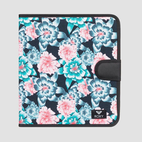 Roxy What A Day Ring Binder Folder Anthracite S Crystal Flower - Womens