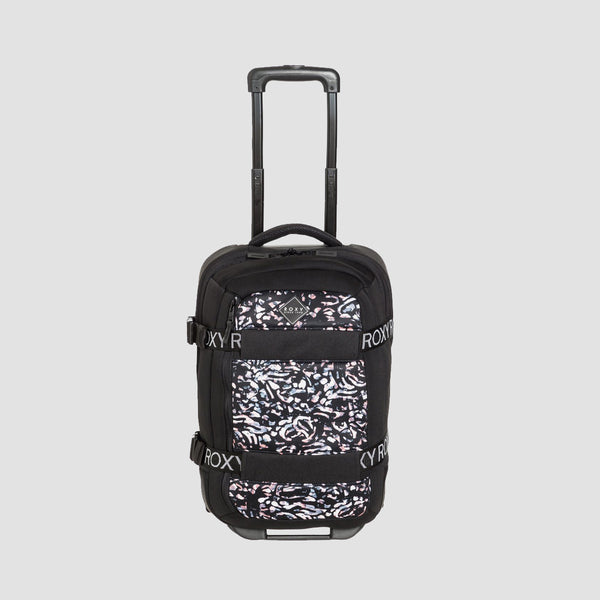 Roxy Wheelie Neoprene 30L Wheeled Suitcase True Black Izi - Womens