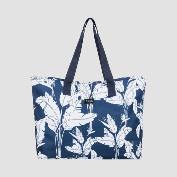 Roxy Wildflower 28L Tote Bag Mood Indigo Flying Flowers S - Womens