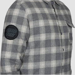 Santa Cruz Axle Overshirt Jacket Grey Check - Clothing