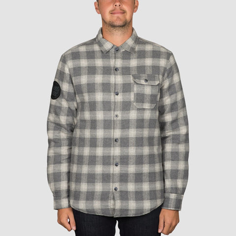 Santa Cruz Axle Overshirt Jacket Grey Check