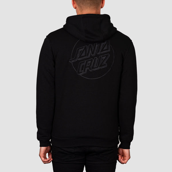 Santa Cruz Blackout Zip Hood Black