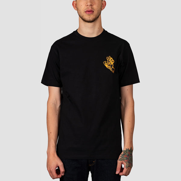 Santa Cruz Crash Hand Tee Black