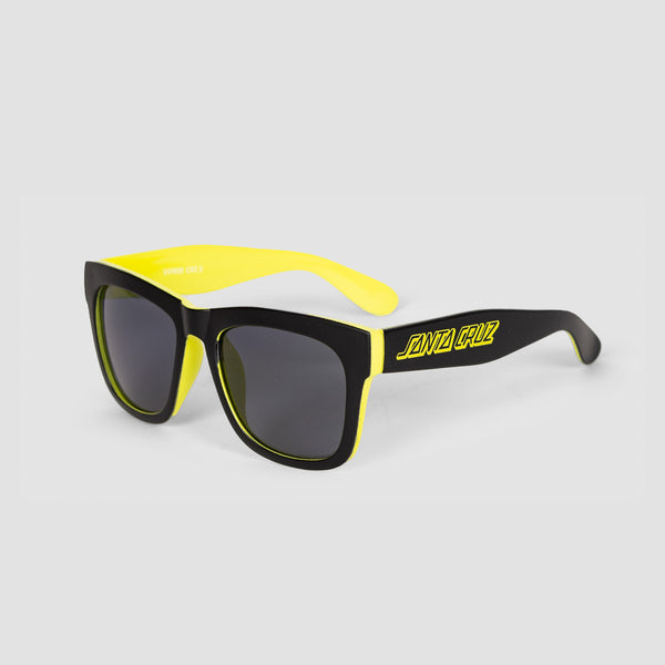 Santa Cruz Dazed Sunglasses Black/Safety Green