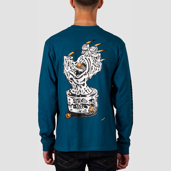 Santa Cruz Digital Black Magic Hand Longsleeve Tee Petrol Blue