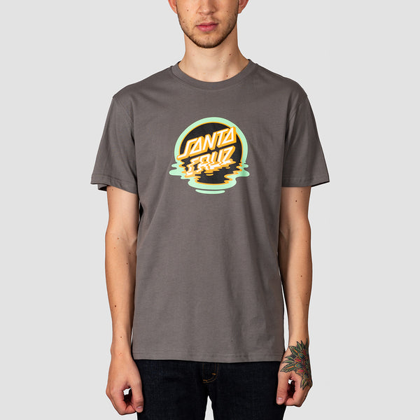 Santa Cruz Dot Reflection Tee Steel