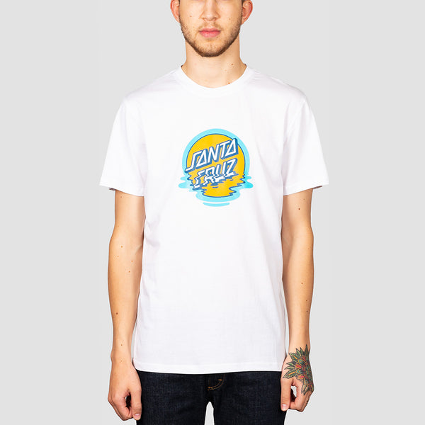 Santa Cruz Dot Reflection Tee White