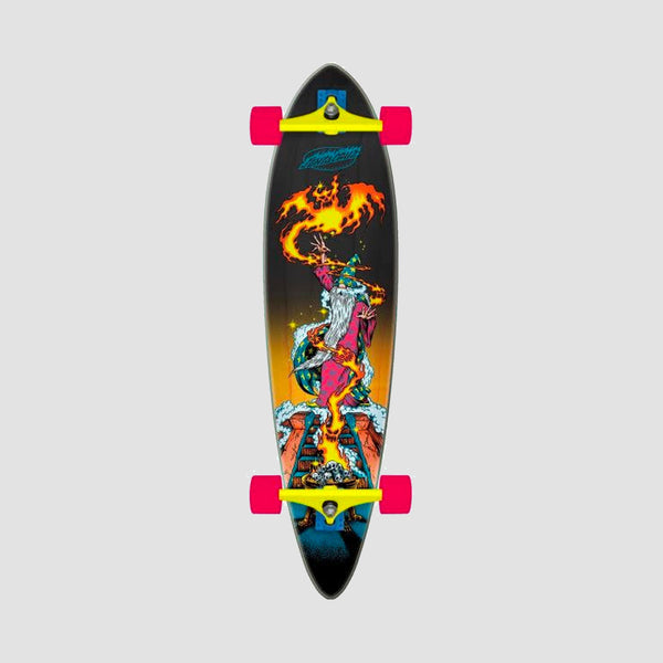 Santa Cruz Fire Wizard Pintail Cruzer Longboard Multi - 39""