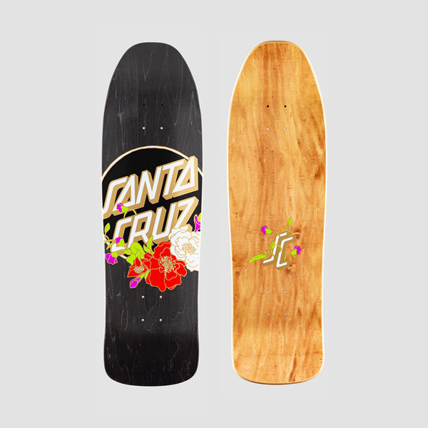 Santa Cruz Floral Dot Preissue Deck Black - 9.35""