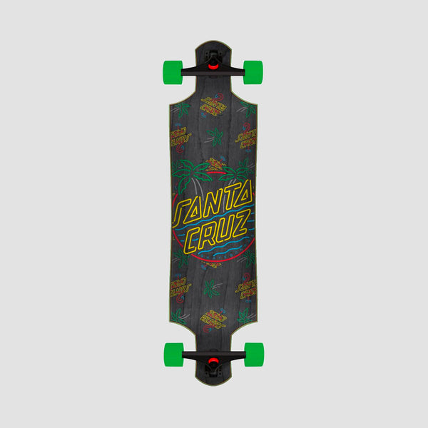 Santa Cruz Glow Dot Drop Down Cruzer Longboard Multi - 40""