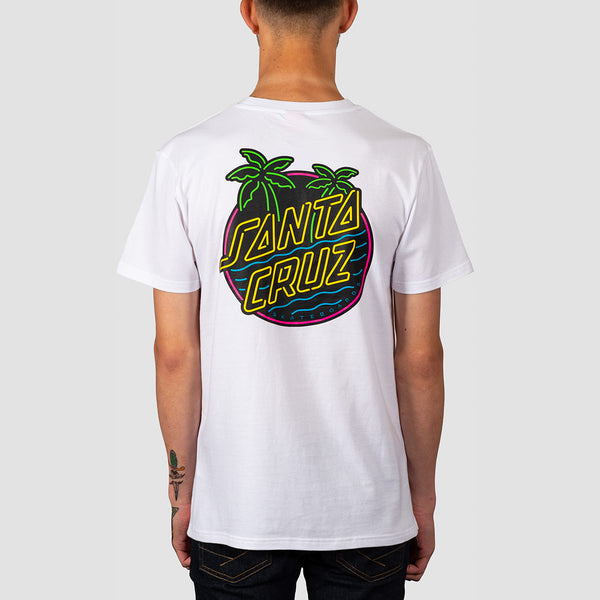 Santa Cruz Glow Dot Tee White