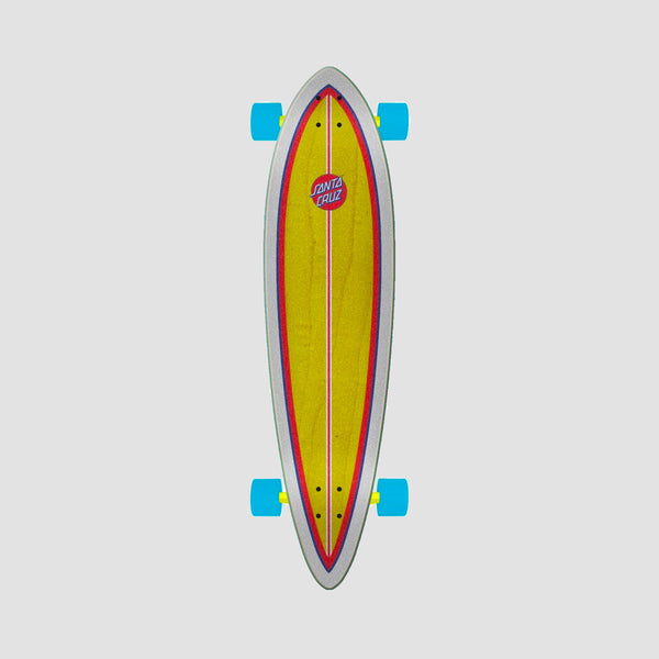 Santa Cruz Hands Allover Pintail Cruzer Longboard Multi - 39""