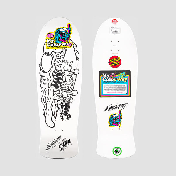 Santa Cruz Meek Slasher My Colorway Reissue Deck White - 10.1""