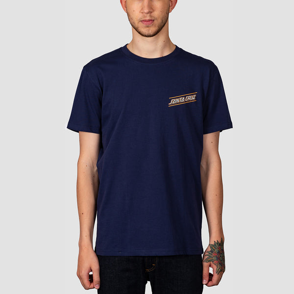 Santa Cruz Multi Strip Tee Dark Navy