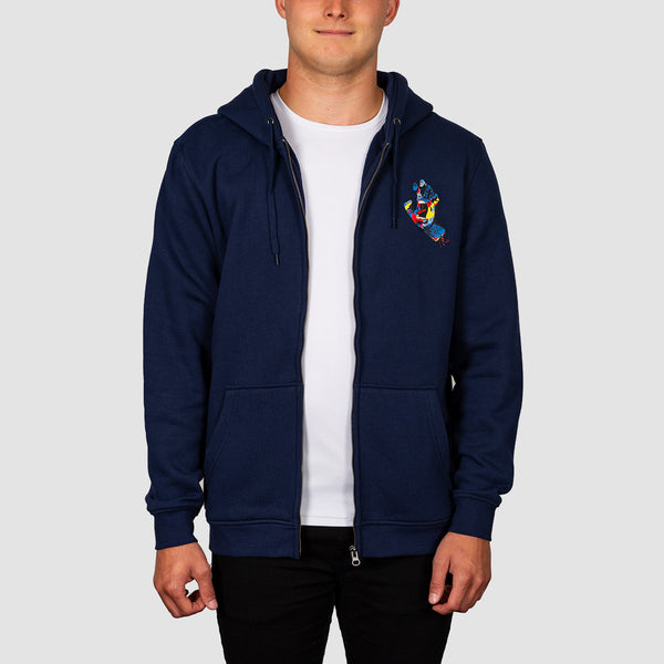 Santa Cruz Primary Hand Zip Hood Dark Navy